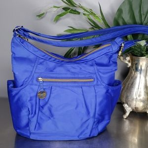 Travelon Anti-Theft RFID Hobo Bag Royal Blue